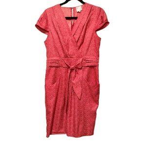 Karen Walker Red Polka Dot Retro Shift Dress 8